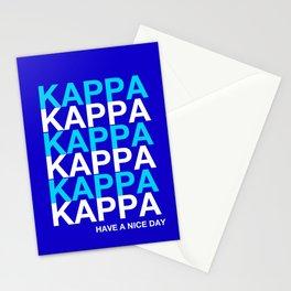 KAPPA KAPPA HAVE A NICE DAY Stationery Cards