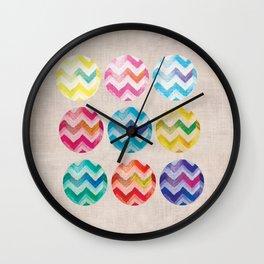 Chevron Circles Wall Clock