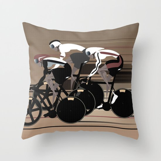 Velodrome Throw Pillow