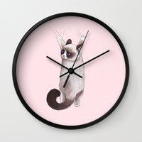 grumpy Wall Clocks featuring Grumpy Hang by Tummeow