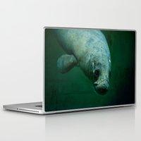 manatee Laptop & iPad Skins featuring Manatee by Mariana Lisina
