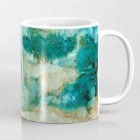 waterfall Mugs featuring Waterfall by Rosie Brown