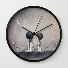 Dandelions And Daisies Wall Clock