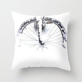 Snow Tire Throw Pillow