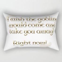 Goblins Take You Away (White) Rectangular Pillow
