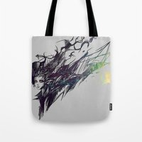 raven Tote Bags featuring Raven by Ryky