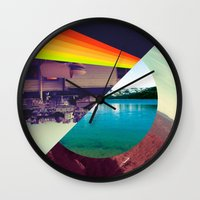 prism Wall Clocks featuring Prism by Kevin Copp