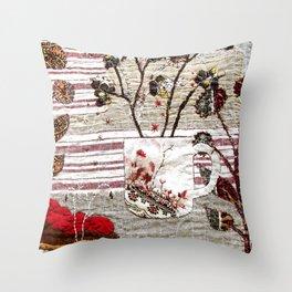 Botanical coffee Throw Pillow