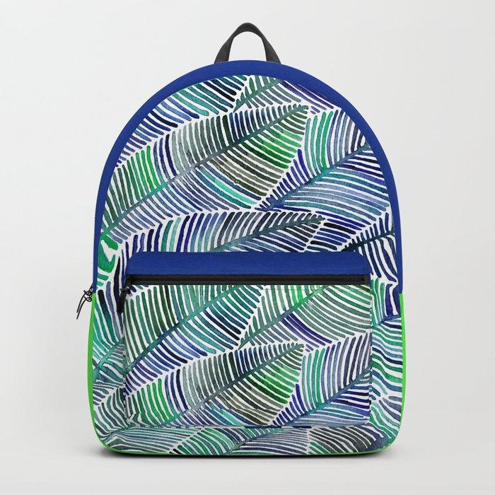 Tropical Leaves – Blue/Green Palette Backpack