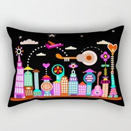 Fantastic City Under Starry Sky Rectangular Pillow