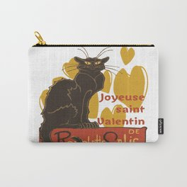 Joyeuse saint Valentin Le Chat Noir Parody Carry-All Pouch