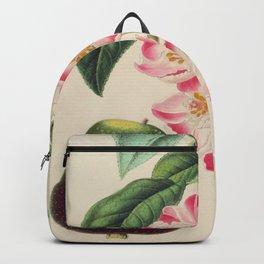 Cydonia Japonica Vintage Botanical Floral Flower Plant Scientific Backpack