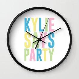 Kylie Minogue Wall Clock