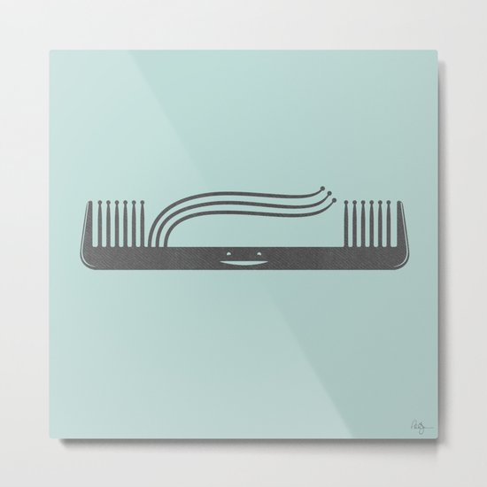 Comb Over Metal Print