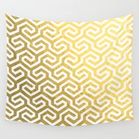 golden Wall Tapestries featuring GOLDEN by Sarah Stark