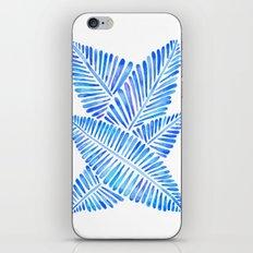 Tropical Banana Leaves – Blue Palette iPhone Skin