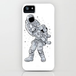 Bjj Astronaut Galactic Flying Armbars iPhone Case