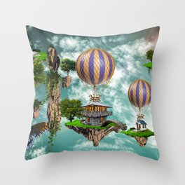 Balloon House Throw Pillow