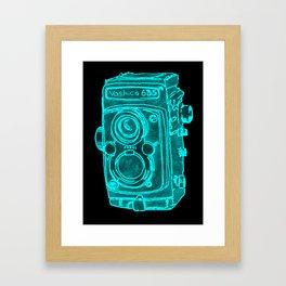 Red Camera Framed Art Print