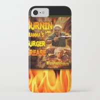 grease iPhone & iPod Cases featuring Burn Like Gramma's Burger Grease by Big Tasty