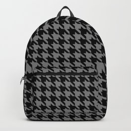 Black and Grey Classic houndstooth pattern Backpack