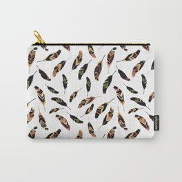 Feathers seamless pattern, vector illustration Carry-All Pouch