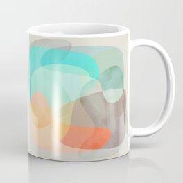 Shapes and Layers no.29 - Blue, Orange, Gray, abstract painting Coffee Mug