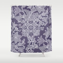 Lilies. Seamless Pattern. Lace. Shower Curtain