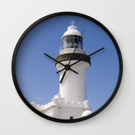 Byron Bay Lighthouse blue Sky Wall Clock