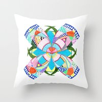 blossom Throw Pillows featuring Blossom by Heaven7