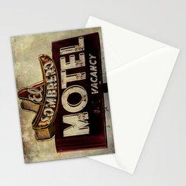 Vintage El Sombrero Motel Sign Stationery Cards