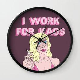 I WORK FOR KAOS Wall Clock
