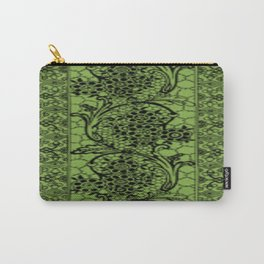 Vintage Lace Greenery Carry-All Pouch