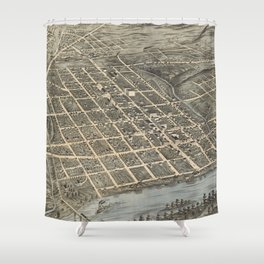 Vintage Pictorial Map of Knoxville (1871) Shower Curtain