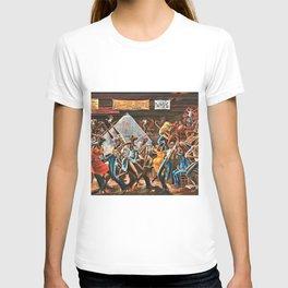 1970's Harlem Renaissance African American Sugar Shack Painting T-shirt