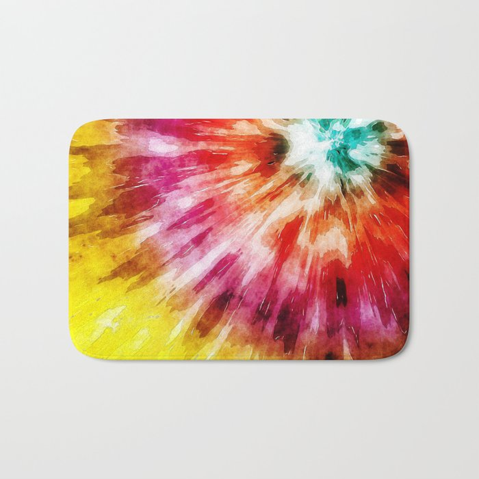 Vibrant Tie Dye Abstract Bath Mat