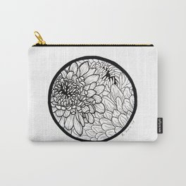 Chrysanthemum Circle Carry-All Pouch