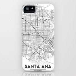 Minimal City Maps - Map Of Santa Ana, California, United States iPhone Case