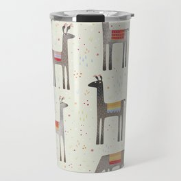 Llamas in the Meadow Travel Mug