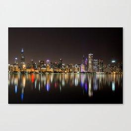Chicago Champs Skyline Canvas Print