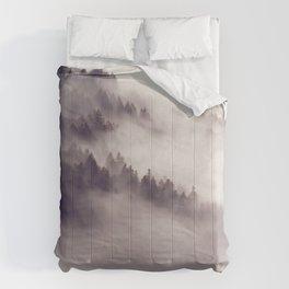 mountainside  fog Comforters