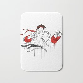 street fighter ryu character  fan art by me Bath Mat