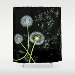 Blowing Dandelions, Scanography Shower Curtain