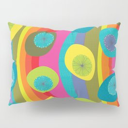 Groovy Retro Waves Pillow Sham