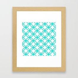 Interlocking Teal Framed Art Print