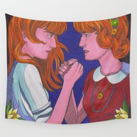 florence Wall Tapestries featuring Florence Vs. Florence by Anna Gogoleva