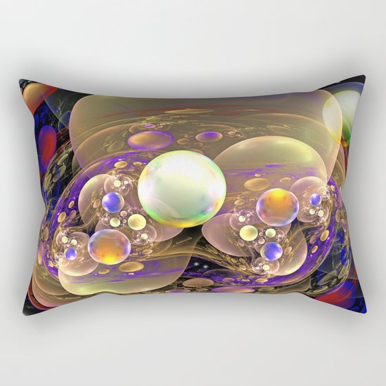Gathering of the Planets, Fractal abstract Rectangular Pillow