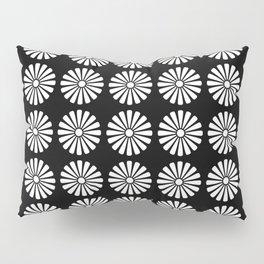 Black And White Flowery Daisy Pattern Pillow Sham