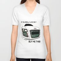 audi V-neck T-shirts featuring Zaklassic - Z-06A by Zak Ashton