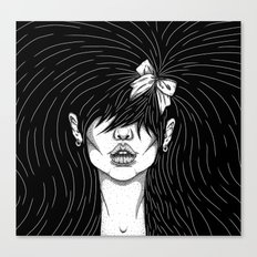 Girl With a Ribbon  Canvas Print
